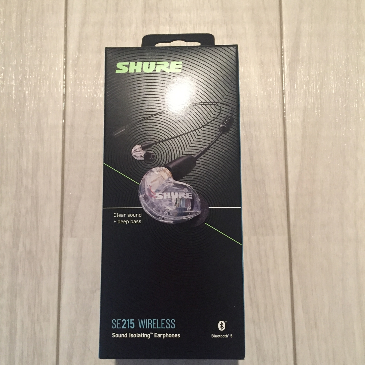 SHURE SE215-CL+BT2-A クリア Bluetooth イヤホン AirPods Pro WF-1000XM3 SONY Apple カスタムイヤホン