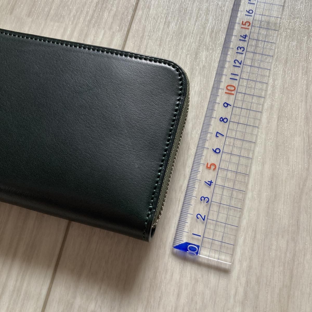万双 革 革製品 レザー ブライドル 財布 長財布 双鞣和地 ダークグリーン 小銭 金運
