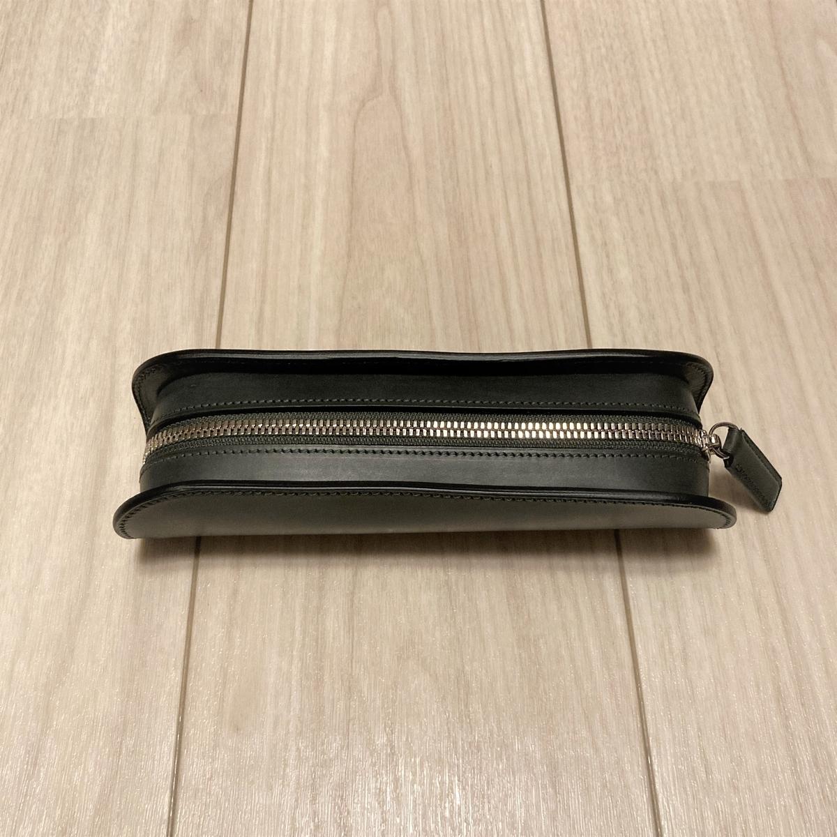 万双 革 革製品 レザー ブライドル 財布 長財布 双鞣和地 ダークグリーン 小銭 金運 ペンケース ブライドル