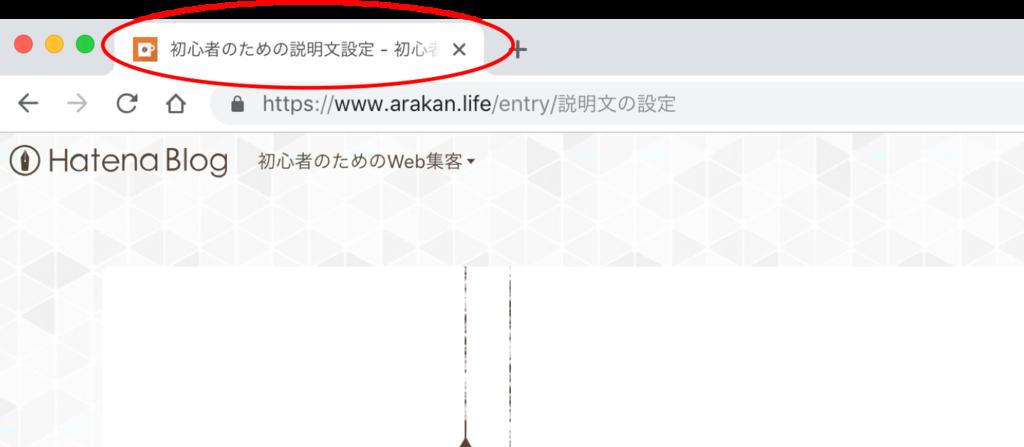 Webブラウザのタグ表示