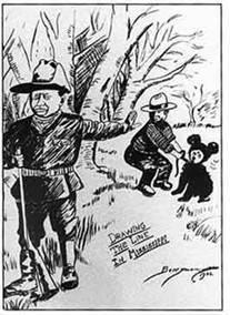 1902年11月16日のワシントンポスト紙に掲載された漫画
