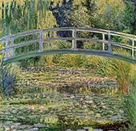 モネ『睡蓮の池』ナショナル・ギャラリー (ロンドン) 1899年に制作された「日本風の橋」の連作の一つ