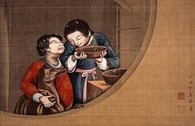 『児童愛犬図』 (1770年代)