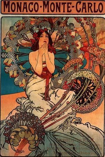 図8 ミュシャ作「モナコ・モンテ・カルロ」(1897年)