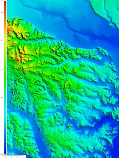 2.5万地形図による10m-DEM