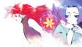 兎龍さんと瑠璃さんのマスコットキャラ擬人化の