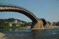 錦帯橋 流れは結構ある