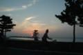 南紀白浜に沈む夕陽