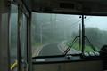 [関電トロリーバス]路上に電線
