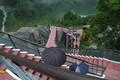 [黒部ダム]展望台から放水箇所への下り階段