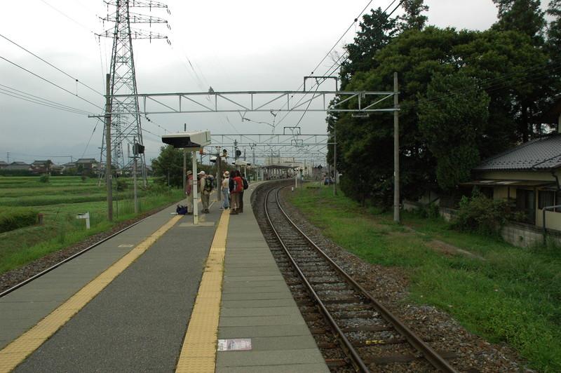 穂高駅ホーム