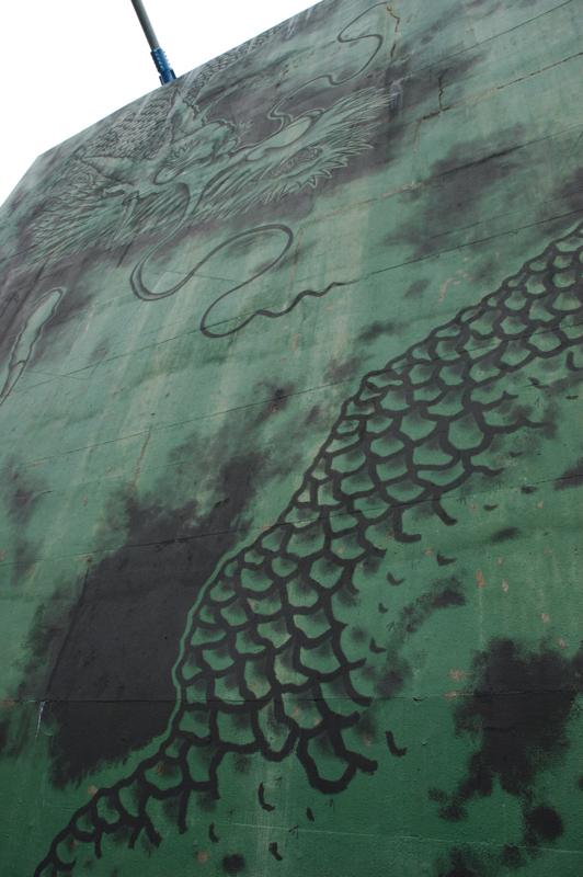 竜神さん 緑・黒がいい雰囲気。