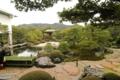 [足立美術館]邸より池庭。左が喫茶室 大観