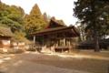 [熊野大社][一之宮]神楽殿を遠めに。形がいい。