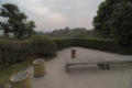 茶室 明々庵より松江城を望む