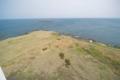 [入道崎灯台]先に見えるのは水島