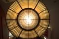 [入道崎灯台]肉眼で見ると中の電球が拡大してみえる
