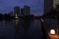 [夜景][天王洲アイル]遠くに帆船・・・