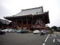 [池上本門寺]大堂を裏から。寺務所がこちら側にあります。