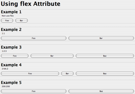 Using flex attribute in XUL