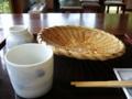 [食事][蕎麦]本日のお蕎麦 「安曇野 翁」の田舎そば(食後(ノ∀`))