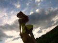 [フィギュア][トイズワークス][メディアワークス][エヴァンゲリオン][空][夕焼け]電撃フィギュアマガジン 惣流・アスカ・ラングレー カットNo.023