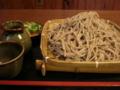 [食事][蕎麦]本日のお蕎麦 「そばの庵 はや田」の十割そば大盛り