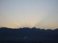 [空][夜明け・朝焼け]2009年11月6日の夜明け
