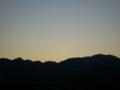 [風景・景観][空][夜明け・朝焼け]2009年12月7日の夜明け