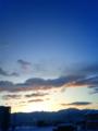 [風景・景観][空][夜明け・朝焼け][雪]2010年2月2日の夜明け前