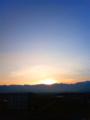 [風景・景観][空][夜明け・朝焼け]2010年2月14日の夜明け