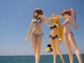 [フィギュア][WAVE][リリカルなのは][*Season02:夏]BEACH QUEENS はやて&なのは&フェイト カットNo.003