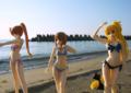 [フィギュア][WAVE][リリカルなのは][*Season02:夏]BEACH QUEENS はやて&なのは&フェイト カットNo.002
