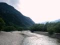 [風景・景観][河川][空]上高地・梓川