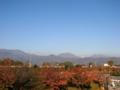 [風景・景観][空]長野県上高井郡小布施町・北信五岳を望む