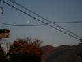 [風景・景観][空][月]小布施町の夕暮れ