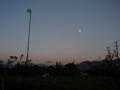 [風景・景観][夕焼け][空][月]