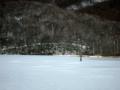 [風景・景観][雪][湖]戸隠高原・鏡池にて