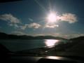 [風景・景観][空][河川]北上川河口にて