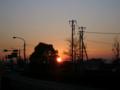 [風景・景観][夜明け・朝焼け][空]2011年1月12日の夜明け(群馬県太田市付近)