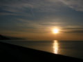 [風景・景観][空][海][夕焼け]