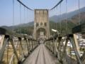[風景・景観][河川]天白公園の桃介橋(長野県木曽郡南木曽町)