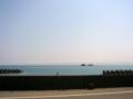 [風景・景観][海][空]富山湾越しに立山連峰を望む(富山県氷見市)