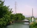 [風景・景観][空][河川]拾ヶ堰(長野県安曇野市)