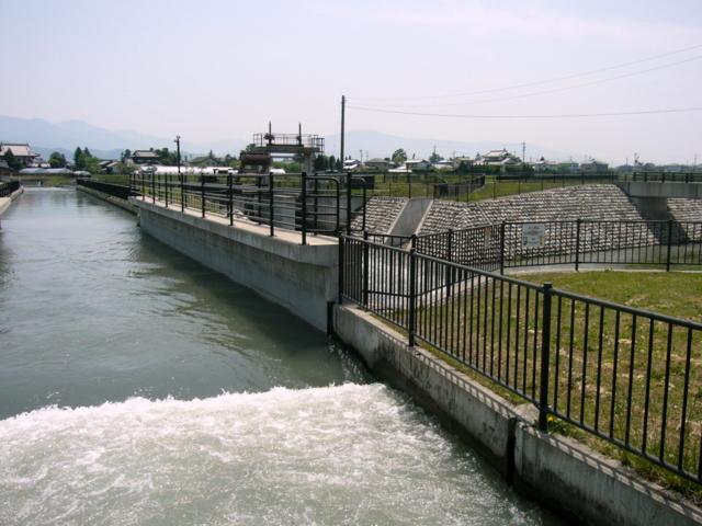 拾ヶ堰と万水川