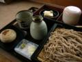 [食事][蕎麦]安曇野そば庄さんのもりそば・おやきセット(長野県安曇野市)