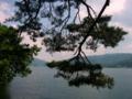 [風景・景観][空][湖]木崎湖畔(長野県大町市)