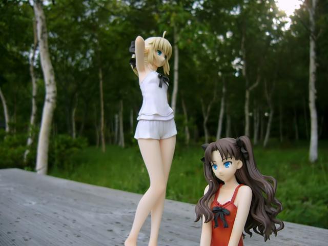 Fate/stay night 魔法使いの夏休み セイバー&凛 -Summer Ver.- カットNo.001