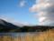 青木湖畔より北アルプスを望む