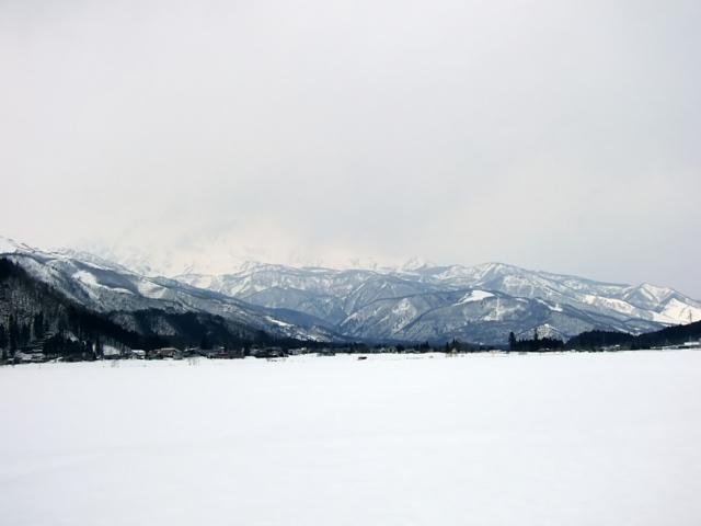 3月の雪原
